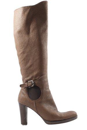 Henry Beguelin Wysokie buty na obcasie brązowy W stylu casual