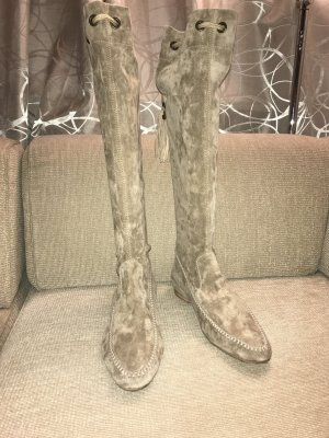 Henry Beguelin Botas slouch camel-crema