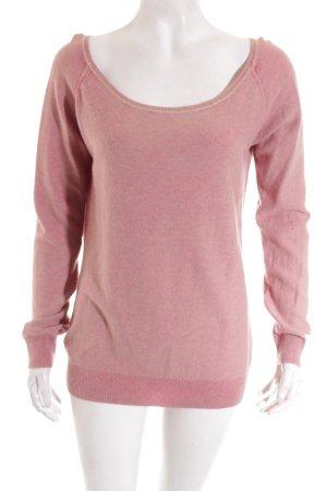 Henry Christ Pullover rosa-pink Logo-Applikation