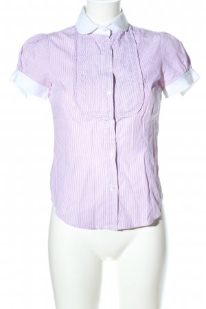 Henry Cotton's Short Sleeved Blouse pink-white striped pattern business style