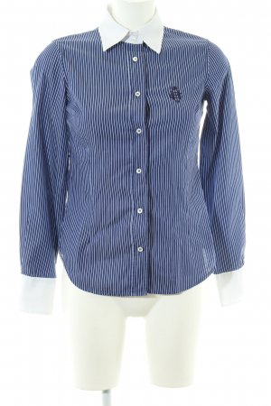 Henry Cotton's Langarmhemd blau-weiß Streifenmuster Business-Look