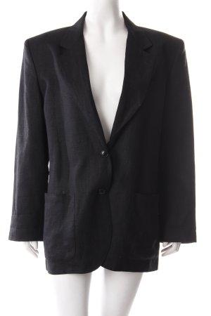 Henry Cotton's Long-Blazer schwarz Business-Look