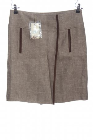 Henry Cotton's Miniskirt brown flecked business style