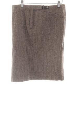 Henry Cotton's Wollrock braun meliert Business-Look
