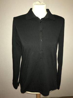 Henry Cottons langarm Poloshirt Polo Shirt 48 schwarz ungetragen