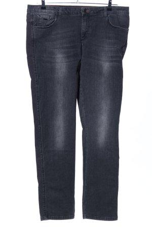 Henry J. Siegel Slim Jeans schwarz Farbverlauf Casual-Look