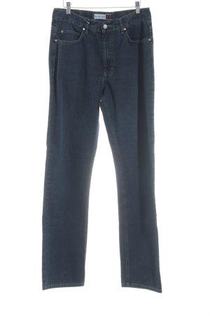 Henry J. Siegel Straight-Leg Jeans dunkelblau Casual-Look