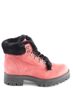 Snowboots pink-schwarz Casual-Look