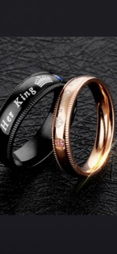 Partner Ring rose-gold-coloured-black