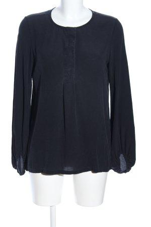her Shirt Langarm-Bluse schwarz Business-Look