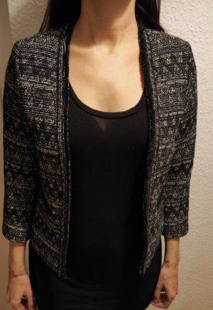Esprit Blazer en tweed noir-argenté