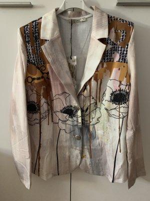 Herbst-Fashion! Italy Blazer - Größe L 38/40 - Beige/Black/Brown - MissY