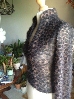 Blusa de cuello alto beige-marrón Algodón
