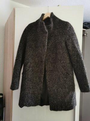 Only Abrigo de lana negro-gris