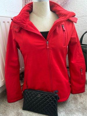 Takko Fashion Chaqueta estilo universitario rojo