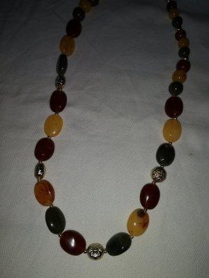 Herbst Kette mit bunten Perlen und gold Element