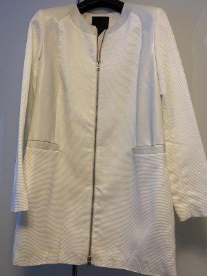 Pietro Filipi Manteau en cuir blanc cassé-blanc