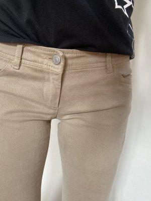 Sisley Low-Rise Trousers oatmeal cotton