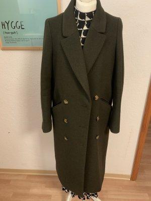 H&M Płaszcz oversize ciemnozielony
