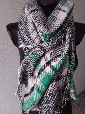 Made in Italy Bufanda de flecos multicolor