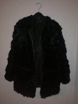 Zara Chaqueta de piel sintética negro Imitación de cuero