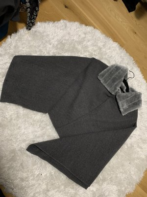 Fake Fur Jacket dark grey
