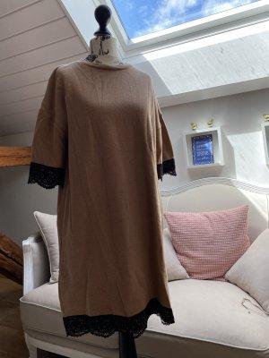 Robe pull brun sable