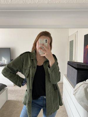 H&M Between-Seasons Jacket khaki-green grey