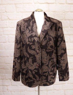 Delmod Unisex Blazer light brown-dark brown cotton