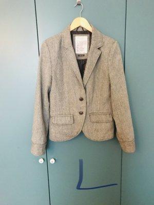 Fresh made Blazer en tweed gris-blanc cassé