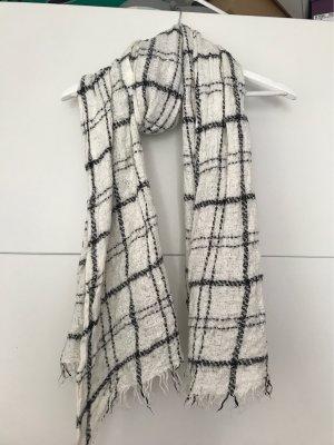 Banana Republic Wollen sjaal wit-zwart