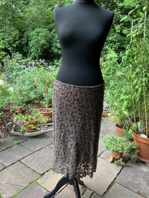 Kathleen Madden Gonna di lana marrone chiaro Lana