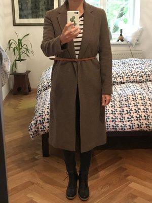 Herbstlicher Wollmantel Massimo Dutti