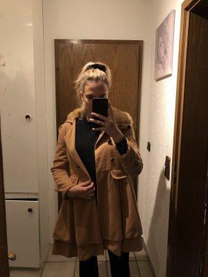 Abrigo de piloto beige-marrón