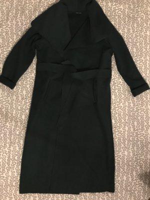 Made in Italy Abrigo largo verde oscuro