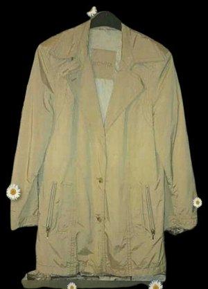 Bonita Płaszcz przejściowy jasnobeżowy-kremowy Tkanina z mieszanych włókien