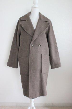 H&M Wool Coat light brown-grey brown wool