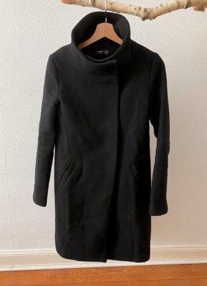 Hallhuber Heavy Pea Coat black