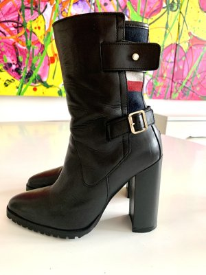 Tommy Hilfiger Wedge Booties black leather