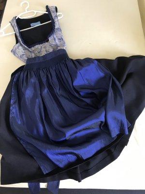 Vestido corsage negro-azul