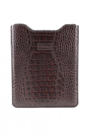 Heritage Laptop bag brown animal pattern business style
