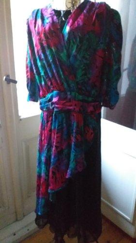 Hermann Lange Collection Vintage Kleid mit bunten Samt