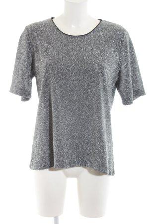 Hermann Lange T-Shirt hellgrau meliert Casual-Look
