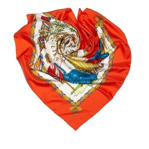 Hermès Sjaal wit Zijde