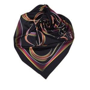 Hermès Sjaal zwart Zijde