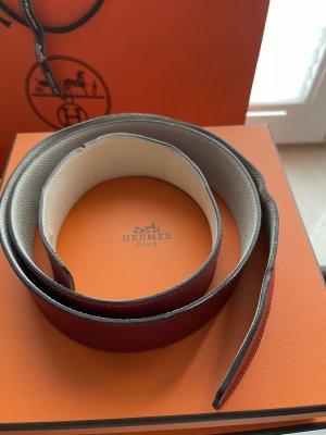 Hermès Cintura di pelle bianco-bordeaux