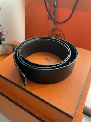 Hermès Cintura di pelle nero-marrone scuro