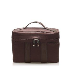 Hermès Borsa porta trucco marrone scuro