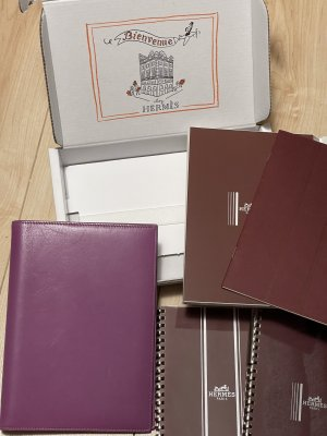 Hermès Écritoire gris violet cuir