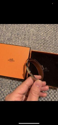 Hermès Braccialetto marrone-argento